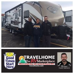 Congratulations to Mike & Dawn on the purchase of their Cougar 28RBS #traveltrailer from Rob! #Travel #travelhome #cougarrv #RVing #Camping #Vacation