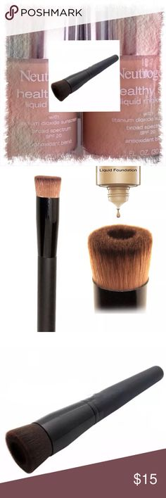 """Wooden Liquid Foundation Brush Multi-functional. Mix your foundations. Fiber material. 5.3"""" Makeup Brushes & Tools"""