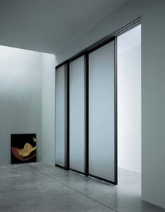 Commercial Glass Interior Sliding Door With Frosted Ans