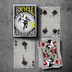 Limited Edition Urban Punk Bicycle Playing Cards // Tuck Box & Cards