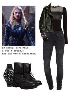 Clarke Griffin - The 100 by shadyannon on Polyvore featuring polyvore fashion style Diesel Steve Madden Ice-Watch TIGHA Christian Benner clothing