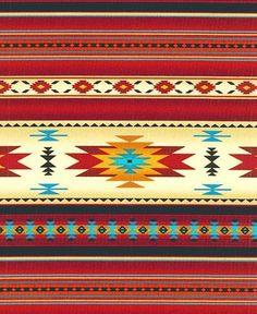 2 Yards Native American Indian Blanket Fabric Sedona Brick Red Beautiful   eBay