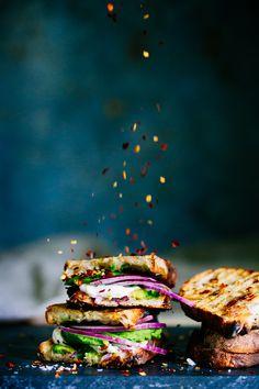 Vegan grilled sandwich #vegan