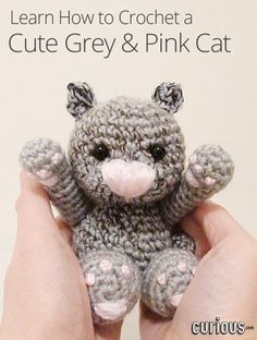 Do you love cats? In this intermediate crochet lesson, Toni Marie from Crochet with Style demonstrates how to crochet and stitch together a cute, gray and pink toy cat.