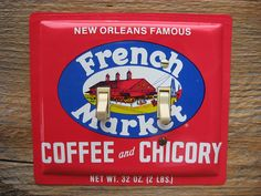 New Orleans French Market Coffee Chicory Tin Switch Plate by tincansally