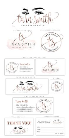 Lash logo design Eyelash branding kit Lash extensions logo - March 02 2019 at Cosmetic Logo, Eyelash Logo, Eyelash Brands, Makeup Artist Logo, Makeup Artist Business Cards, Cards Ideas, Make Up Designs, Lipstick For Dark Skin, Logo Design