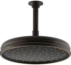 Kohler Traditional Round GPM Rainhead with Katalyst Air-Induction Oil Rubbed Bronze Showers Shower Heads Rain Shower Rain Shower System, Shower Systems, Bronze Shower Head, High Pressure Shower Head, Kohler Faucet, Shower Installation, Custom Shower, Shower Arm, Shower Heads