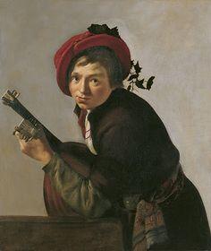 TICMUSart: Joven tocando la tiorba - Jan Gerrit Bronchorst (1... (I. M.)
