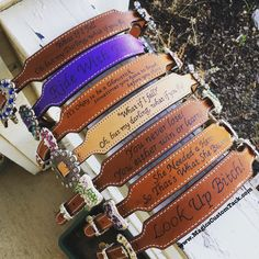 Magics Custom Tack Blinged out custom wither straps with sayings on them Www.magicscustomtack.com