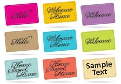 Home Mat Vectors -   Set of welcome home mats for entrances or your home projects, real estate publications or friendly topics in your designs.  - https://www.welovesolo.com/home-mat-vectors/?utm_source=PN&utm_medium=weloveso80%40gmail.com&utm_campaign=SNAP%2Bfrom%2BWeLoveSoLo