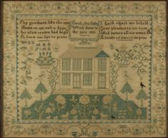 Sampler Sarah Ann Emley 1830