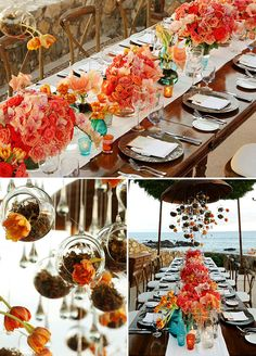 Beautiful table decor details from this Mexico destination wedding. Check out the full wedding gallery: http://www.colincowieweddings.com/articles/real-weddings/fresh-coastal-cabo-wedding