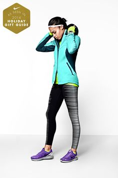It's always running weather. Every winter warrior needs her shield from the elements. The Nike Shield Max Jacket, Flash Tights and LunarGlide 6 Flash Running Shoes are warm and breathable no matter the temperature.