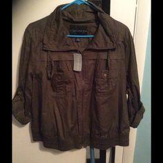 Forever plus olive green jacket Zip front, olive/khaki jacket Forever 21 Jackets & Coats Jean Jackets