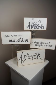 Shabby Chic Wooden Sign    http://www.etsy.com/shop/ChicLittleSomethings?ref=ss_profile