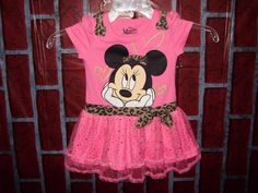 Minnie Mouse Toddler Girls pink tutu dress size 4 pink gold lacy #MinnieMouse #Everyday