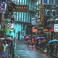 Mesmerising bursts of color on a rainy day in Macao. ☂️ captured by travel photographer Macau, Travel Photographer, City Life, Rainy Days, Hong Kong, Times Square, Asia, The Incredibles, In This Moment