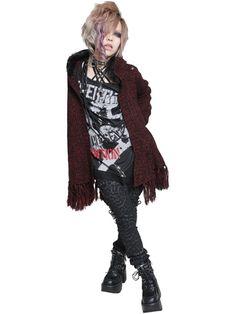 CDJapan : DRAPE ROCK MIX Knit Cardigan (M) SA06057-103 SEX POT ReVeNGE APPAREL / See more at http://www.cdjapan.co.jp/apparel/ #Japanese #PunkFashion