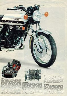 Classic RD400 Brochure T Shirt 12 Sizes Classic Bike Advert Motorcycle Motorbike