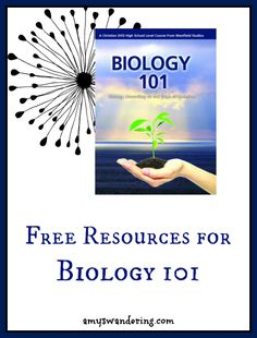 Free websites, worksheets, videos, books, and games to supplement the #Biology 101 DVDs