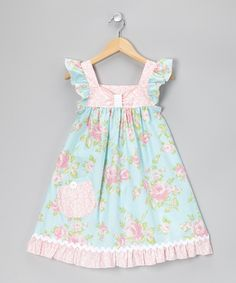 Take a look at this Pink Romantic Rose Flutter Dress - Infant, Toddler & Girls by Art & Soul Boutique by Bercot on Little Girl Outfits, Little Dresses, Cute Dresses, Toddler Dress, Toddler Outfits, Kids Outfits, Infant Toddler, Toddler Girls, Baby Girl Dresses