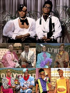 In Living Color (1990 - 1994, Fox) Blaine Edwards (Damon Wayans) & Antoine Merriweather (David Alan Grier)