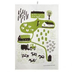 Kauniste - maatila keittiöpyyhe