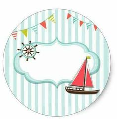 This is the matching Sticker of the Cute Sailing Boat Baby Shower Invitation Card! It's perfect for your event, and customizable! Kids Scrapbook, Scrapbook Paper, Pregnancy Scrapbook, Sailor Theme, Baby Shower Invitation Cards, Baby Stickers, Nautical Party, Happy Eid, Summer Kids