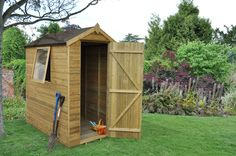 Premium shiplap 4x6 shed will fit into most gardens. http://www.wonkeedonkeeforestgarden.co.uk/forest-tpa46hd-apex-shiplap-pressure-treated-6x4-hd.html