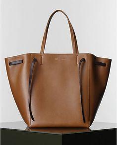 CÉLINE   Winter 2014 Leather goods and Handbags collection - CABAS PHANTOM HANDBAG IN TAN SLEEK CALFSKIN