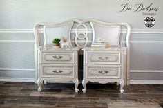 Metallic Pearl finish on french provincial dresser Add a little