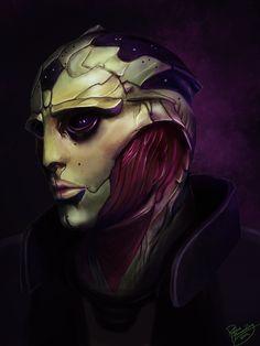 Mass Effect: Thane Krios by *ruthieee on deviantART