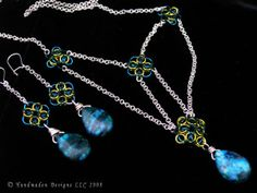 """Think Art Loud: My Art Monday - """"Alastriona"""" Liberty Style Celtic Revival chainmaille necklace/earring set by Handmaden Designs LLC."""