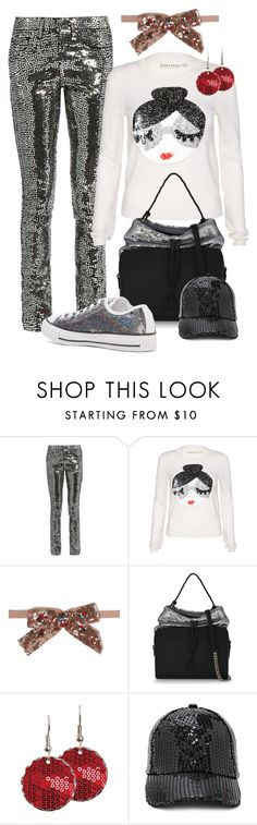 """""""Sequin Style"""" by inspire-create-design-repeat ❤ liked on Polyvore featuring Yves Saint Laurent, Alice + Olivia, Gucci, Maison Margiela, Forever 21, Converse, casualoutfit, Sequins, holidaystyle and NewYearsEve"""