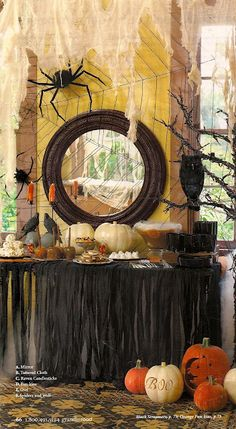 Halloween party - It also has a pic of a well decorated front porch and entryway... Gives me some good ideas!! :)