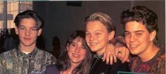 Leonardo DiCaprio with Tobey Maguire, (Juliette Lewis) and an other boy.