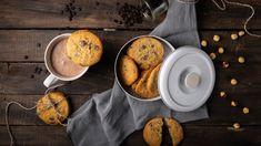 Τυροπιτα Καταΐφι με κρέμα σιμιγδαλιού - madameginger.com Camembert Cheese, Latte, Biscuits, Dairy, Healthy Eating, Cookies, Food, Crack Crackers, Eating Healthy
