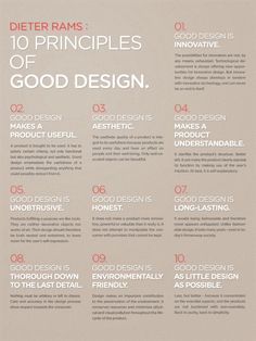 Establishing a good design ethic assisted by Dieter Rams