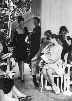 Audrey Hepburn and Mel Ferrer at a Givenchy fashion show, 1964