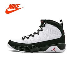 new concept 72024 e0dda Original New Arrival Authentic Air Jordan 9 White Black-Red mens basketball  shoes sneakers Comfortable Outdoor Good Quality