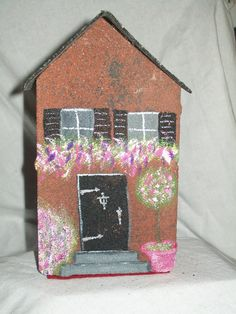 Hand painted Brick House Doorstop by MadewithloveinVA on Etsy, $15.00