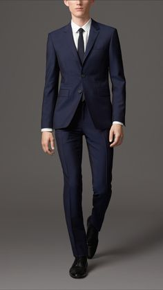 Slim Fit Wool Mohair Suit | Burberry