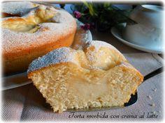 Torta morbida con crema al latte | Il mondo di Adry