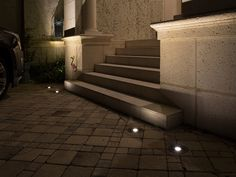 VOLT® well lights are brass in-ground landscape lighting fixtures for up-lighting trees or outdoor architectural features. Choose LED or halogen bulbs. Pathway Lighting, Architectural Features, Pathways, Light Up, Stairs, Bulb, Exterior, Led