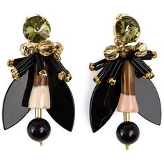 MARNI winged earrings (€360) ❤ liked on Polyvore featuring jewelry, earrings, accessories, marni, resin earrings, marni jewelry, resin jewelry and wing jewelry