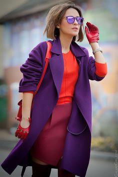 Best Fashion Tips For Women - Fashion Trends Fashion Mode, Look Fashion, Autumn Fashion, Fashion Outfits, Fashion Trends, Fashion Ideas, Purple Fashion, Fashion Colours, Colorful Fashion