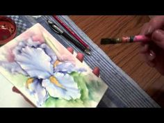 ▶ Iris - Porcelain Painting Stage 13 (First Fire) by Chris Ryder, Bala - YouTube