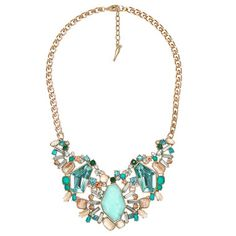 """""""She found treasures everywhere she walked. Or maybe they found her."""" Wink and Pout. Aquamarina Statement Necklace from Chloe + Isabel - Wink and Pout"""