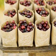 Fruit Wedding Favor Ideas