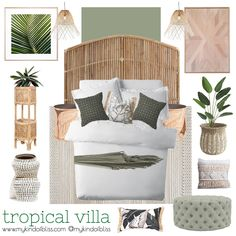 20 Neutral Bedroom Design and Decor Ideas to Add Simplicity and Charm to Your Bedroom - The Trending House Tropical Bedroom Decor, Neutral Bedroom Decor, Tropical Bedrooms, Tropical Interior, Tropical Decor, Design Bedroom, Tropical Colors, Perth, Tropical House Design
